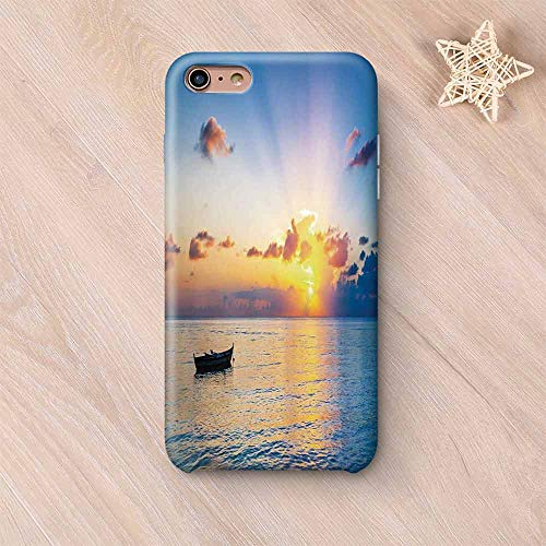 Landscape Stylish Compatible with iPhone Case,Sun Rising Over Ocean on Maldives Seascape Photo Majestic Morning Scenery Compatible with iPhone X,iPhone 6 Plus / 6s Plus