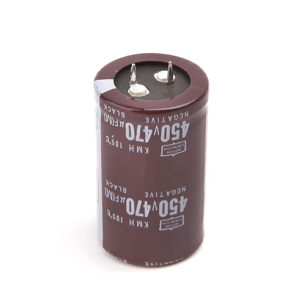 FXCO 1PC 1.18x2.01inch 450V 470uF en aluminium condensateur /électrolytique soudeuse /électrique 450V 470uF en aluminium condensateur /électrolytique Volume 30x50