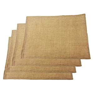 "CarryGreen Set of 4 - Plain Natural Eco-friendly Jute/Burlap Placemats 14"" X 20"""