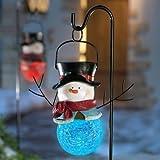 Solar Snowman Christmas Garden Stake