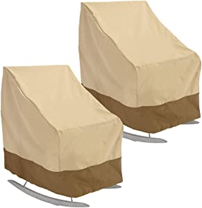 willstar Patio Rocking Chair Cover 420D Thickening Outdoor Furniture Covers Waterproof UV Resistant (2-Pack)