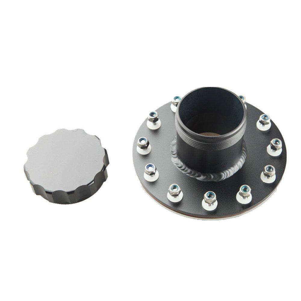 AdlerSpeed 45 Degree 12 Bolt Silver Billet Fuel Cell Fast Filler Neck+Cap
