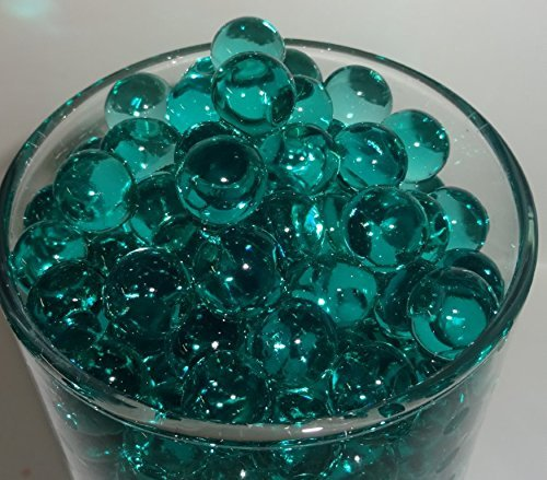 Teal Water Beads Vase Fillers for Use with LED Water Submersible Lights,Tea Lights & Floating Candles