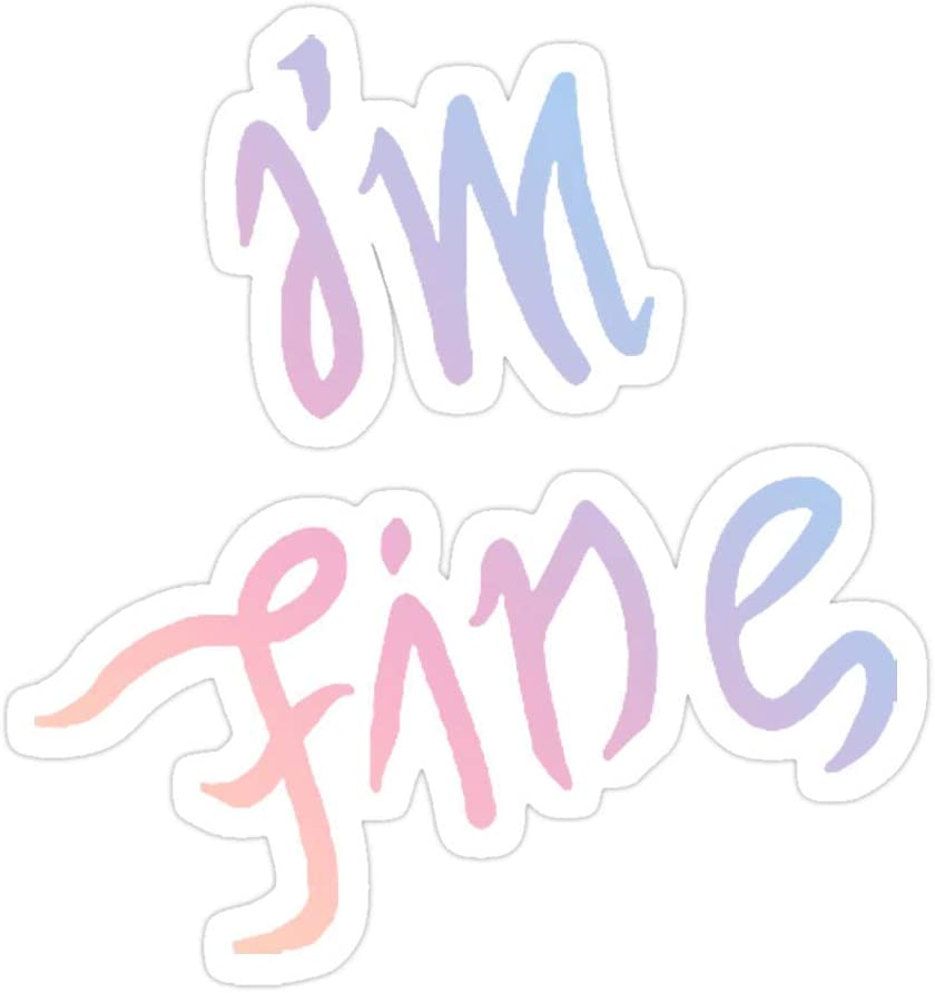 DKISEE 3 PCs Stickers BTS I'm Finesave Me Love Yourself Answer Colors Die-Cut Wall Decals for Laptop Window Car Bumper Water Bottle 4 inches