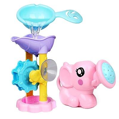 Eugeneq 1 Set Bath Toy Shower Spray Water Waterwheel Bathtub Accessories for Bathroom Kids: Garden & Outdoor