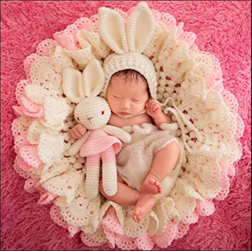 Newborn Photography Costume House Newborn Photography | Baby Props Outfit | Photo Costume | Girls Handmade Crochet Set Photo Prop Costume Outfits (Color : Beige, Size : S)