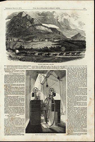 Royal Observatory Cape Town Transit Instrument 1857 great antique Travel print - Old Royal Observatory