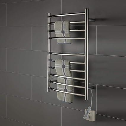 COL PETTI Eléctrica climatizada toallero Carril, Calentador eléctrico termostático Toalla Carril baño Calentador Toalla secador