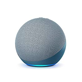 All-new Echo (4th Gen) | Premium sound powered by Dolby and Alexa (Blue)