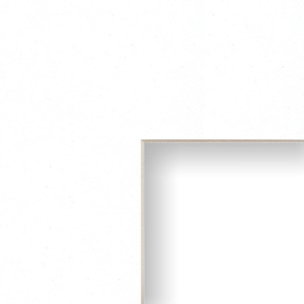 Amazon craig frames b461 24x36 inch mat single opening for amazon craig frames b461 24x36 inch mat single opening for 20x30 inch image crisp white with cream core jeuxipadfo Images