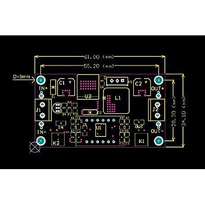 SainSmart LM2596 Adjustable Voltage Regulator 4.0-40V to 1.25-37V DC 36V to 24V to 12V to 5V Variable Volt Power Supply Car Motor Buck Step Down Converter with Red Voltmeter Display: Electronics
