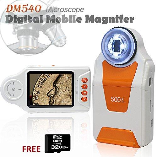 Indigi Digital Pocket Microscope Magnifier 500x ZOOM 2.7 LCD