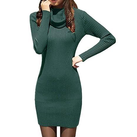 Donna Autunno Invernale Maglione Vestito Sexy Senza Spalline Maglieria  Maniche Lunghe Maglione Mini Abito 0ab5f8ab32a