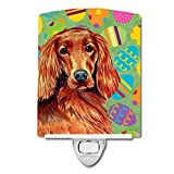 Caroline's Treasures Irish Setter Easter Eggtravaganza Night Light, 6'' x 4'', Multicolor
