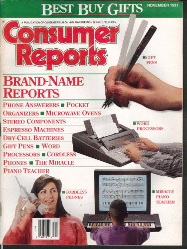 CONSUMER REPORTS Saturn SL1 road test, Espresso makers, microwaves etc. 11 1991