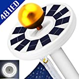 BESWILL 48 LED Solar Flag Pole Light, Super Bright Flag Pole Light Solar Powered Night Light-Flag Downlight for Most 15 to 25 Ft Topper Auto On/Off, Weatherproof &Energy Saving (Upgraded Version)