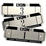 Lyon NF5829 Aluminum Number Plate for All Lockers and Baskets, 2-3/4