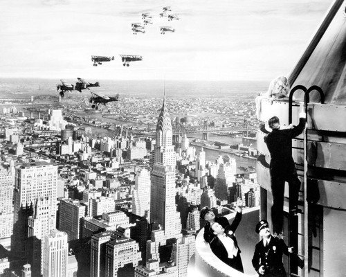 King Kong Empire State Building New York City Skyline vintage planes 16x20 Poster -