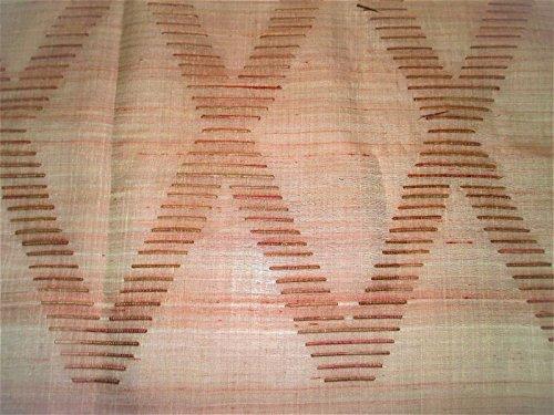 Swatch Sample Fabric Robert Allen Beacon Hill Ababca Diamond Flambeau Silk Sheer Drapery ZJ10
