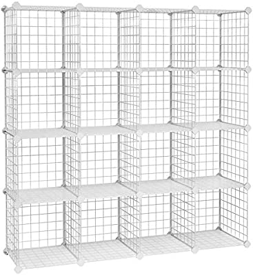 DIY Closet Cabinet and... SONGMICS 16 Cube Metal Wire Storage Organiser