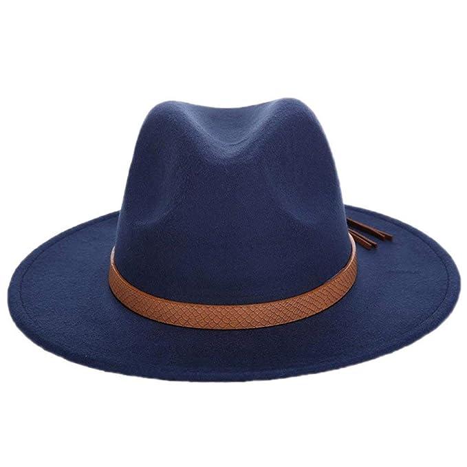 8901a735 Sombrero De Jazz Unisex Fieltro De Sombrero De Color Modernas Casual ...