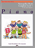 Alfred's Basic Piano Library Notespeller Book Complete Level