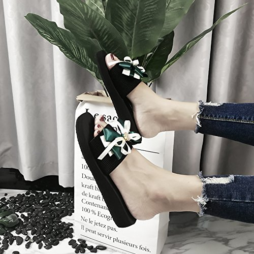 tacco pendenza Green flip 37 flop Donna spesso Sandali spiaggia Moda Mo di Asciugamani trentotto Il Alla Ajunr 3cm Fondo Pantofole Da wOZp0qUC