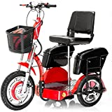 Challenger X OUTLAW Electric Recreational Scooter w/ Deluxe Removable Folding Mobility Seat J750-JX2