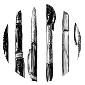 alfombrilla de ratón plumas del doodle - ronda - 20cm