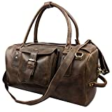 Genda 2Archer Crazy Horse Leather Weekender Travel Duffel Overnight Bag