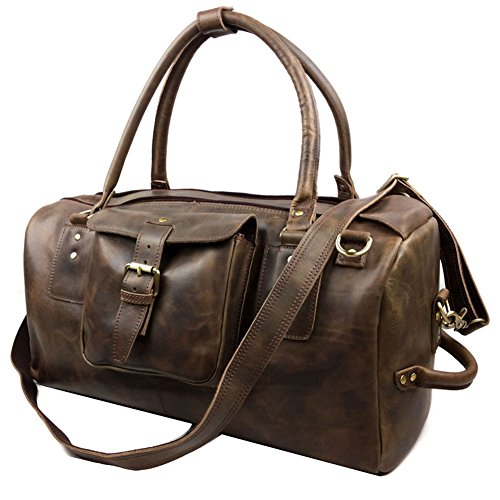 Genda 2Archer Crazy Horse Leather Weekender Travel Duffel Overnight Bag by Genda 2Archer