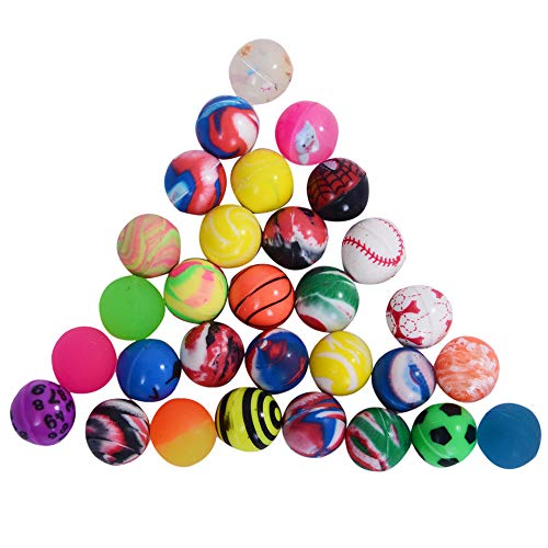 Onepine 30PCS Bouncy Balls Assorted Rubber Balls,Party Bag Filler,High Bouncing Balls for Kids