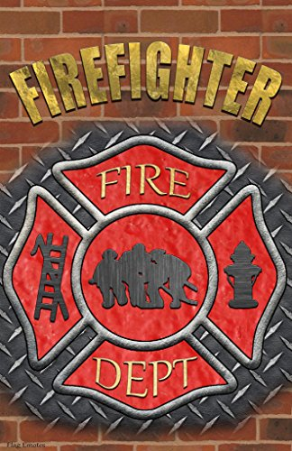 Firemans Cross Firefighting Fire Rescue Flag Emotes Double Sided Garden Banner