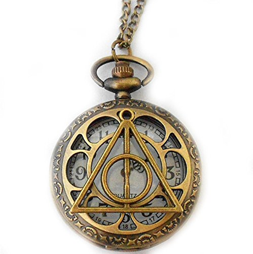 "Price comparison product image J&C Family Owned 18"" Harry Potter Deadly Hallows Watch Necklace in Gift Box"