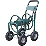 World Pride New Garden 300' Heavy Duty Water Hose Reel Cart Yard Water Planting