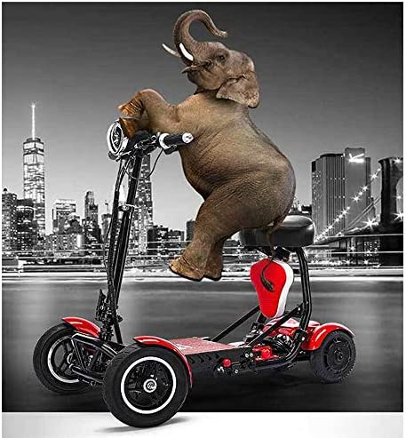 実用的 折り畳み式の軽量大型リチウム電池電動車いす、大人、デュアルモーター、ミニ電動車いす四輪無効高齢者の自転車アウトドア 福祉