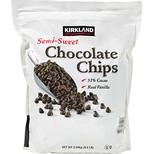 Kirkland Signature Expect More Semi-Sweet Chocolate Chips, 72 oz. 4.5 lb (Semi Sweet Dark Chocolate)
