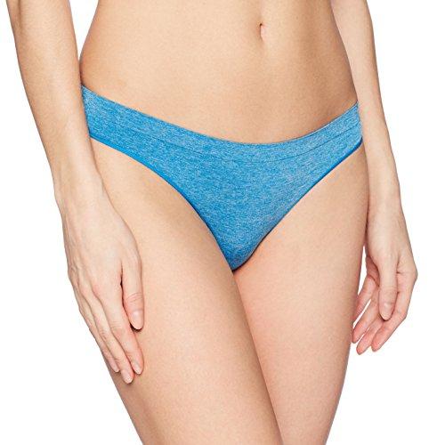 b.tempt'd by Wacoal Women's B Splendid Thong Panty, Mykonos Blue Heather, M