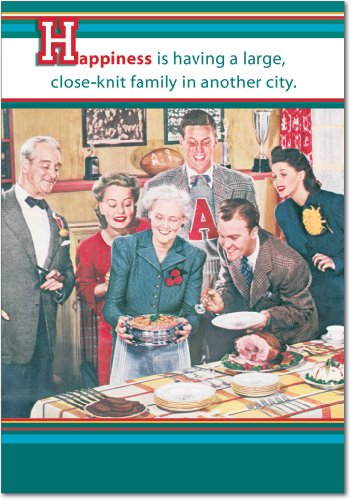 12 'Close-Knit Family' Boxed Christmas Cards w/Envelopes 4.63 x 6.75 inch, Funny Family Dinner Christmas Cards, Hilarious Old-Fashioned Photograph Holiday Notes, Silly Christmas Stationery - Photographs Christmas Cards