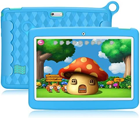 10.1 Inch Kids Tablet,PADGENE Android 8.1 Pad Quad Core Processor,1280x800 IPS HD Display,2GB Ram 32GB ROM,Kidoz&Google Play Pre-Installed with Kid-Proof Case (10 Inch, BL 32G)