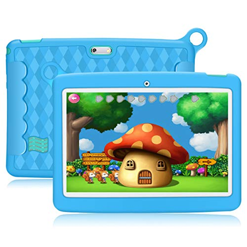 Kivors 10.1 Inch Kid Tablet,Kids Mode,GMS-Certified Android 8.1,Pad Quad Core Processor,1GB RAM+16GB ROM,1280×800 IPS HD…