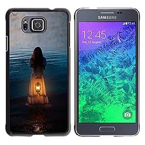 iKiki Tech / Estuche rígido - Girl Woman Orange Light Meaning - Samsung GALAXY ALPHA G850