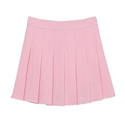 SaiDeng Falda De Tenis Plisada para Mujer Mini Falda De Pliegues ...