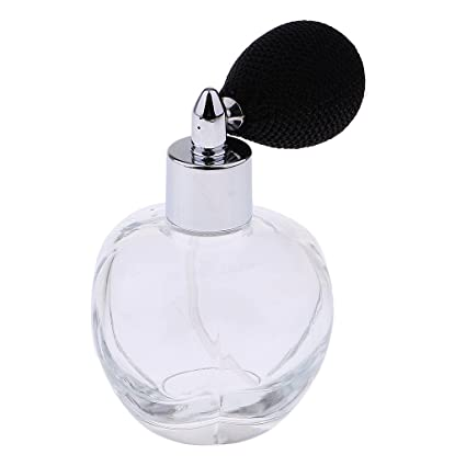 0da55500f199 MagiDeal Clear Crystal Vintage Glass Empty Refillable Perfume Bottle ...