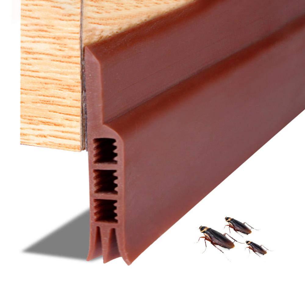 leegoal Balayage de Porte Bande de Porte M/ét/éo D/énudage sous la Porte Bouchon de Tirant Bloqueur Joint de Porte Bouchon Anti-Bruit Coup de Pied Bugs Moustiques