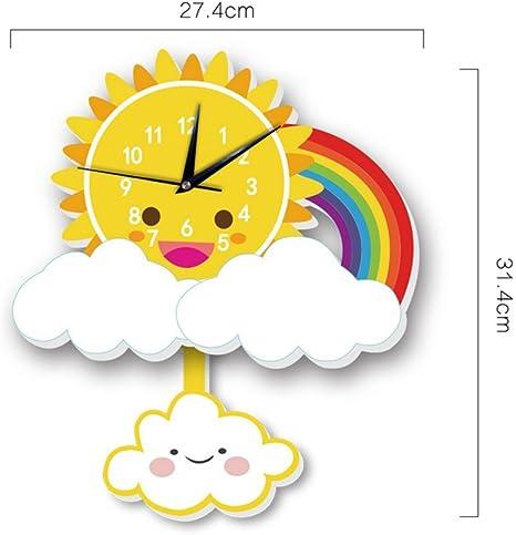 Lonve Reloj De Pared De Estilo De Dibujos Animados, Nubes Nórdicas ...