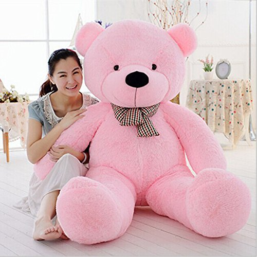 Cuddly Pink Teddy Bear - MaoGoLan Giant Huge Cuddly Stuffed Animals Plush Big Teddy Bear Toy Doll for Girlfriend Christmas Pink 1.4M
