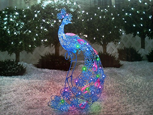 lightshow sparkle snowflakes peacock 26 ft tall christmas yard art decoration buy online in oman lawn garden products in oman see prices
