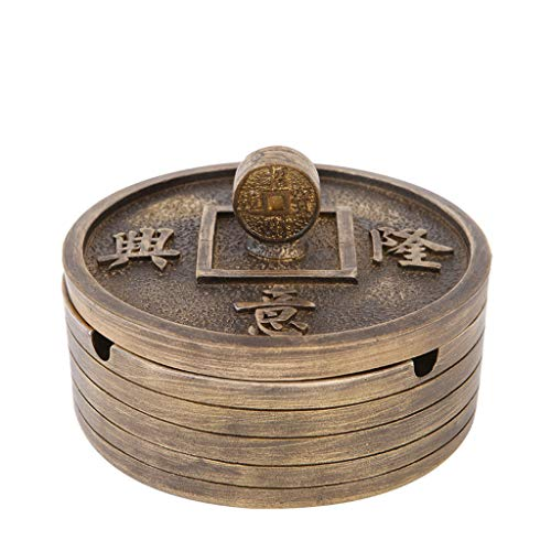 Resin Crafts Chinese Style Copper Coins Retro Ashtray Decoration Creative Home Tea Table Decoration Chinese Style -