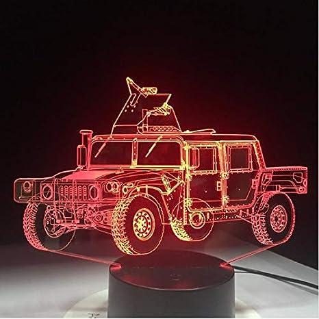 Klsoo Camión Militar Forma 3D Llevó La Lámpara De Mesa Placa De ...